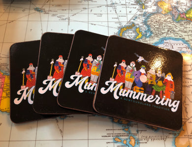 Cork Mummer Coasters - Set of 4