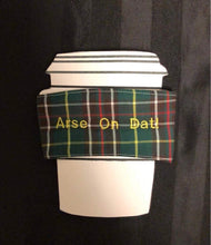 Load image into Gallery viewer, Newfoundland Tartan Coffee Sleeve - Newfie Sayings