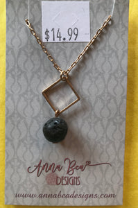 Aromatherapy Lava Rock Necklace