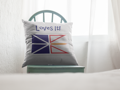 Newfoundland Loves It Pillow Cover - PP.11567479