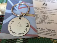 Load image into Gallery viewer, Newfinese 101 Hand Stamped Stainless Steel Keychain - 15 Newfoundland Sayings Available!