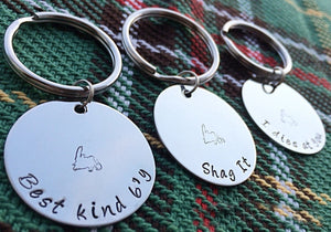 Newfinese 101 Hand Stamped Stainless Steel Keychain - 15 Newfoundland Sayings Available!
