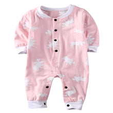 "Load image into Gallery viewer, Baby / Toddler Little Girls Pink "" Don't Moose With Me "" Romper"