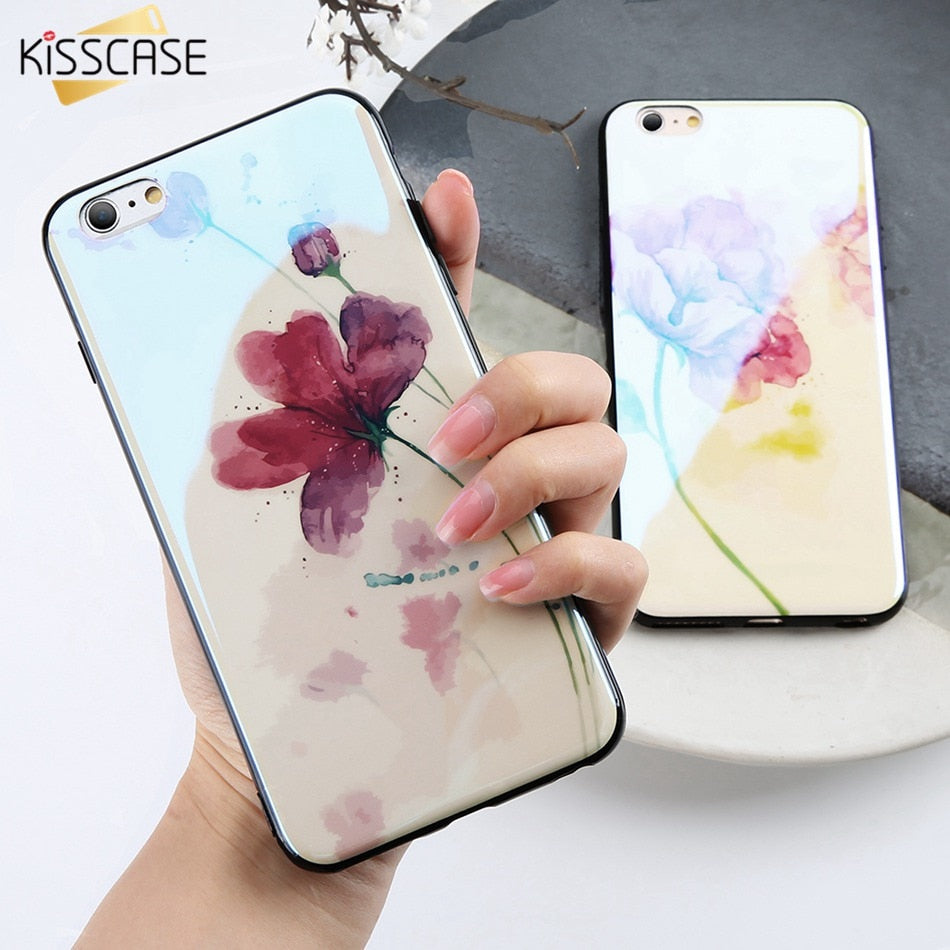 4c9632a25298d0 Load image into Gallery viewer, Cute iPhone New Ink Painting Phone Case For iPhone  7 ...