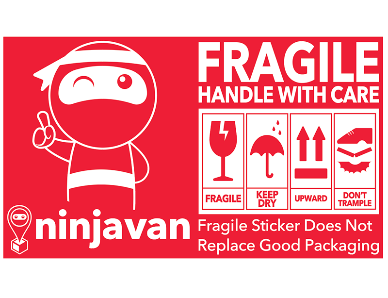Ninja Van Fragile Stickers (Bundle of 20)