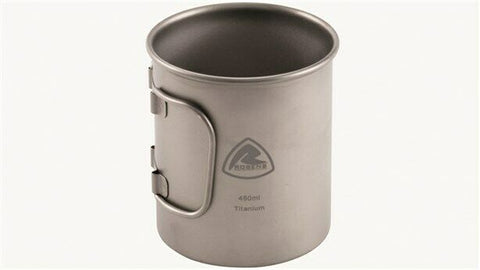Robens Titanium Mug - Folding handle for easy camping storage
