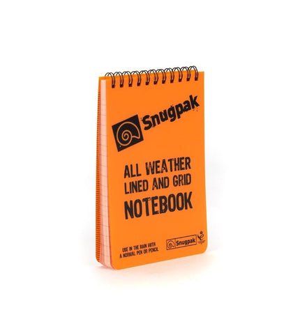 Snugpak Water Resistant Notebook - [Orange / Olive] - Great for the outdoors