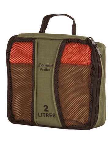 Snugpak PakBox - Olive, 2 Litre Size - Perfect for small storage organisation