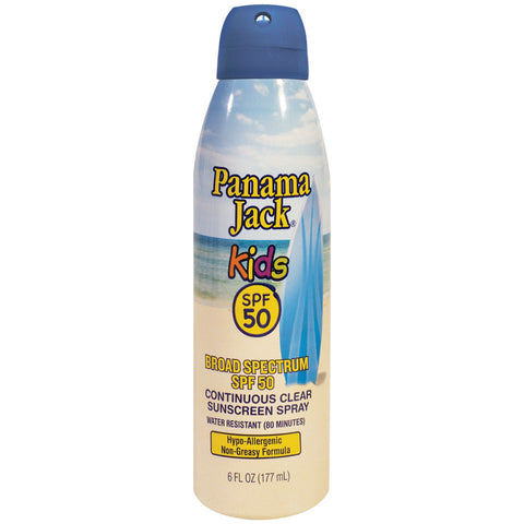 Panama Jack Kids Sunscreen - [SPF50] Sun Protection in a Continuous, Clear Spray