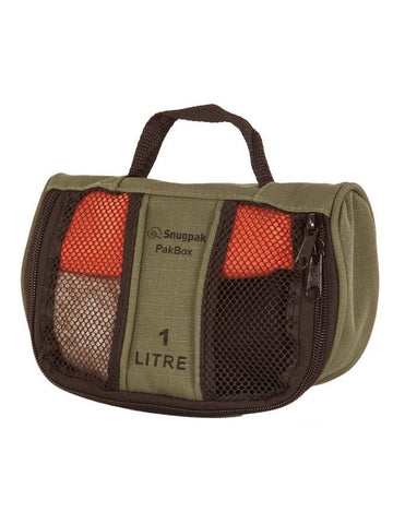 Snugpak PakBox - Olive, 1 Litre Size - Perfect for small storage organisation