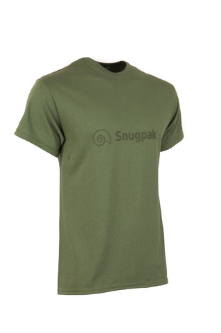 Snugpak Cotton T-Shirt with Logo - Olive / Desert Tan, S - XXL