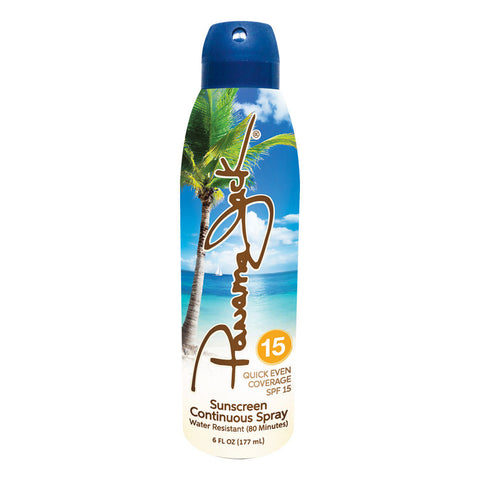 Panama Jack Sunscreen - [SPF 15] Sun Protection in a Continuous, Clear Spray