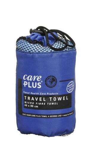 Care Plus Microfibre Travel Towel - (Small, Medium, Large) - Blue