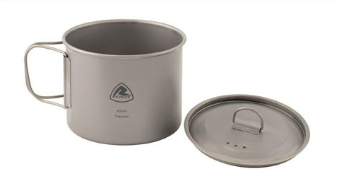 Robens Titanium Pot 0.9L - Folding handle for easy camping storage