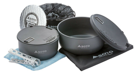 Navigator Cook Set by Soto versatile and multi-functional, perfect for a day out or longer trips.