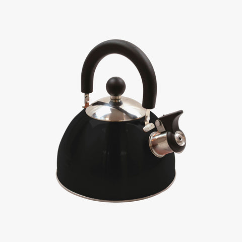 Highlander Deluxe 2L Whistling Kettle - Black