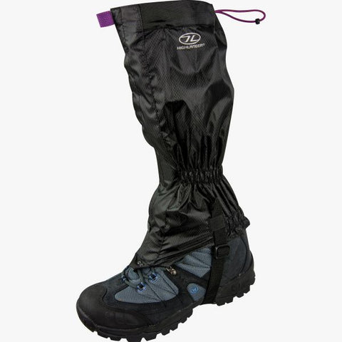 Highlander Glenshee Ladies Gaiters - Black, One Size