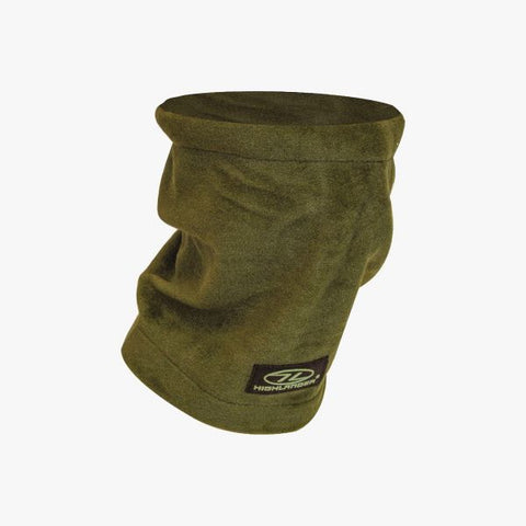 Highlander Polar Fleece Neck Warmer - Olive & Black