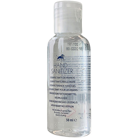 Blue Lion Hand Sanitiser - 50ml - 70% Alchohol Eliminates 99.99% of Germs & Bacteria