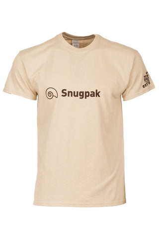 Snugpak Cotton T-Shirt with Logo - Desert Tan