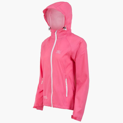 Highlander  Ladies Stow & Go Rain Jacket- Purple, Pink