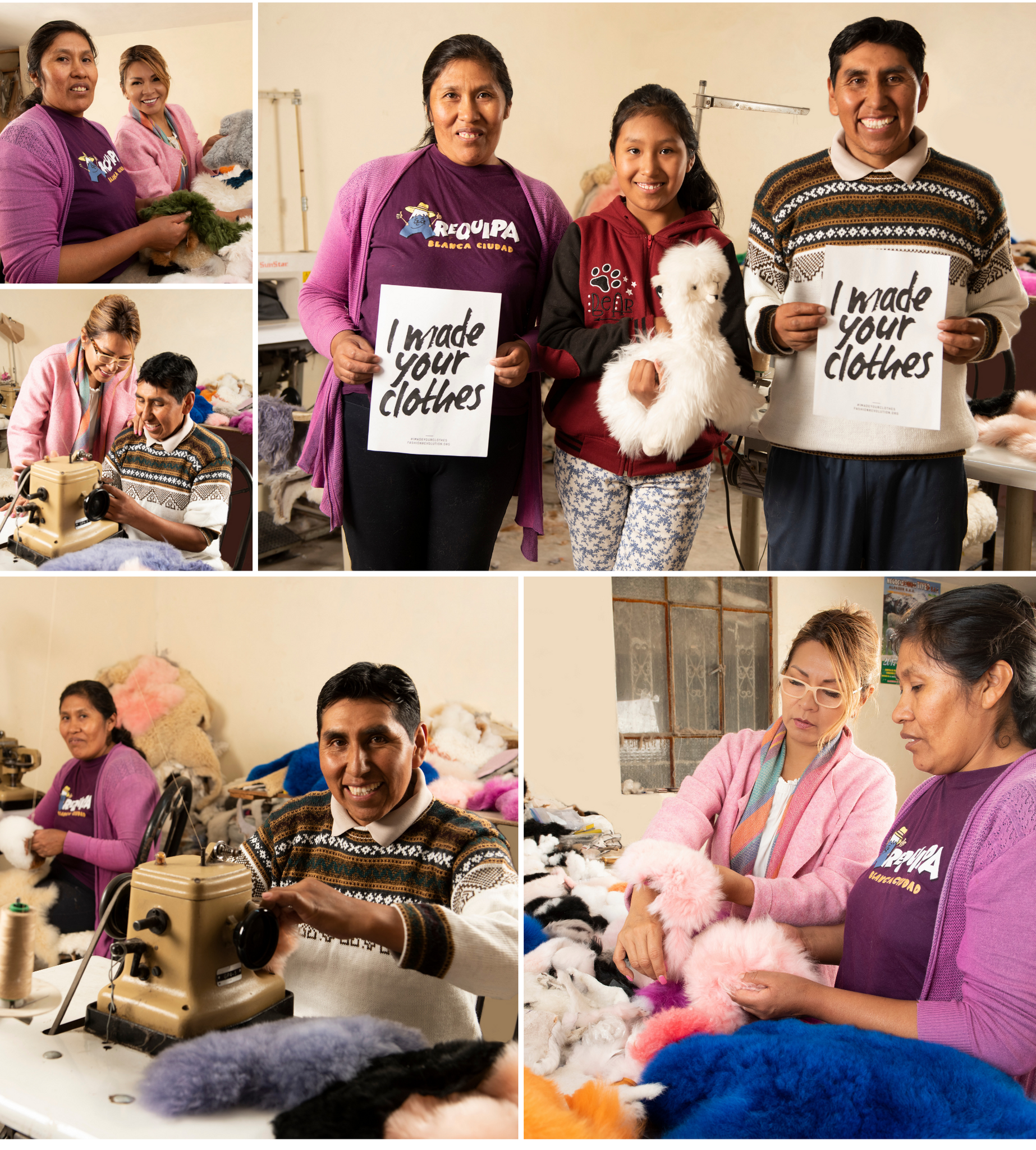Suppliers: Oswaldo and Gloria from Arequipa, Peru / Moda Kalon Cruelty-Free + Sustainable Luxury