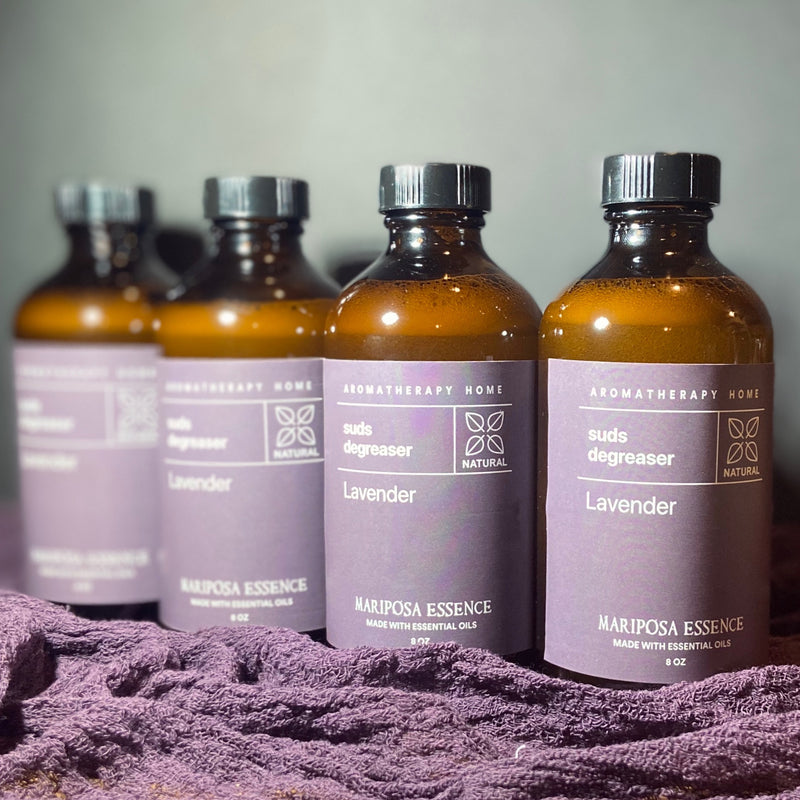 A set of lavender suds degreaser