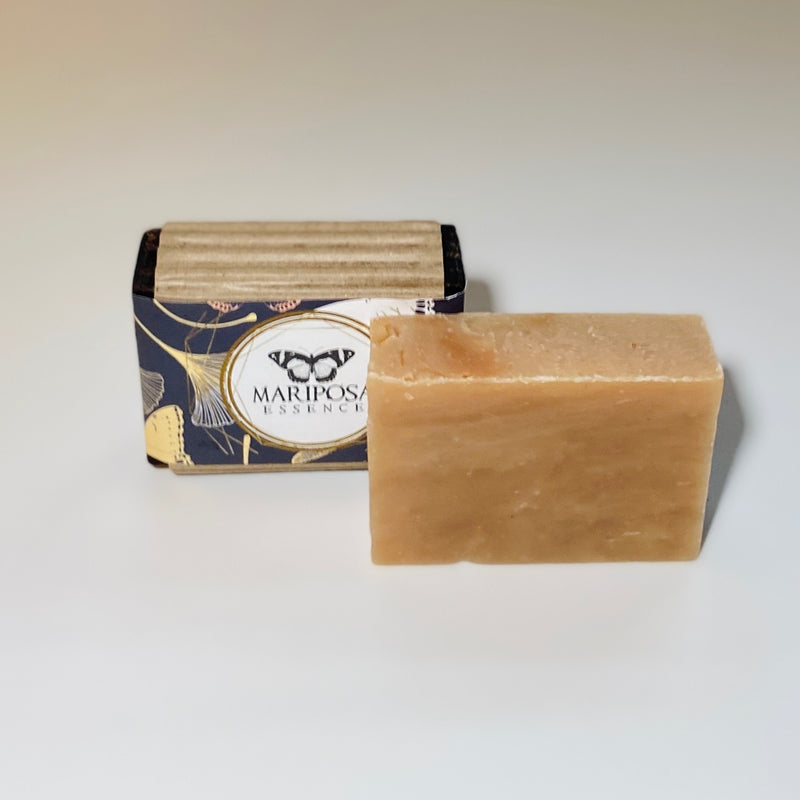 Ginger Nut Bath Bar Soap naked and packaged