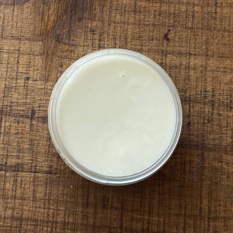 Look at the inside of the jar, creamy balm