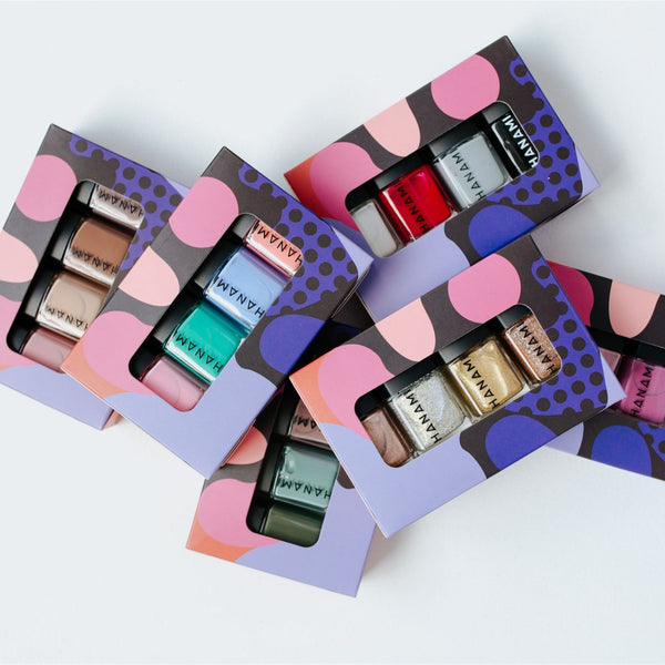Selection of Hanami mini nail polish gift boxes