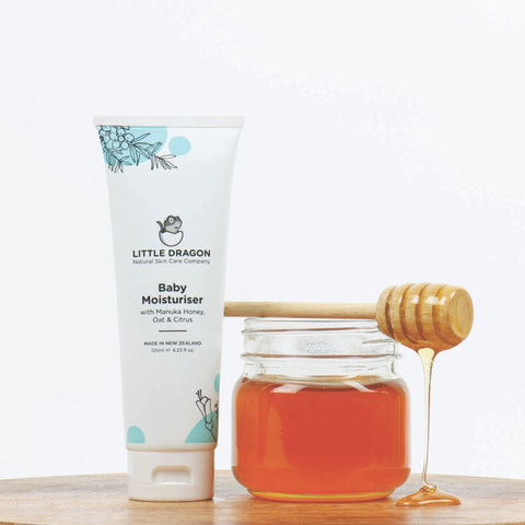 Little Dragon Baby Moisturiser with Manuka Honey, Oat & Citrus.