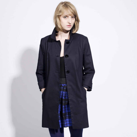 60s Straight Coat - Navy