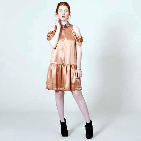 The Baby Jane Dress - Salmon Silk