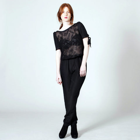 The Victoria Jumper - Black Sparkle