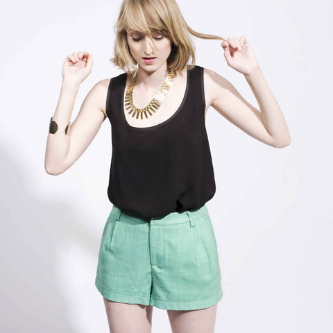 Tailored Shorts - Green