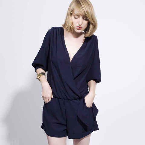 Day Moves Romper - Navy