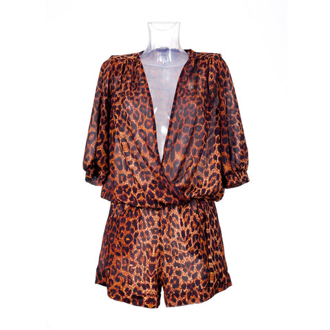 Day Moves Romper - Leopard
