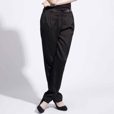 Elegant Pants - Black Satin