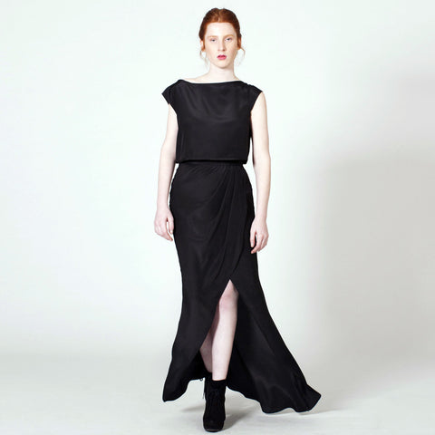 Maxi Wrap Skirt - Black