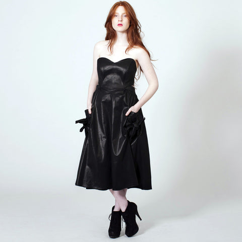 The Rosebud Dress - Black