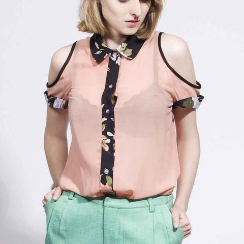 Wild One Blouse - Peach