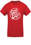 T-Shirt Homme Not in Grand Est - 100% Coton Bio - Rouge