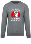 Sweat Born In Elsass Coton Bio Gris chiné