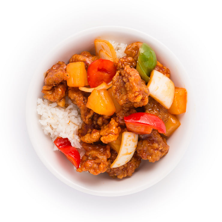 Cantonese Sweet and Sour Pork Bowl