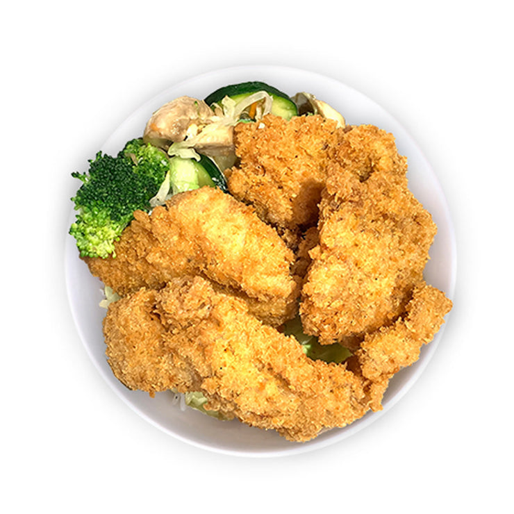 Crispy Chicken Cutlets Bowl