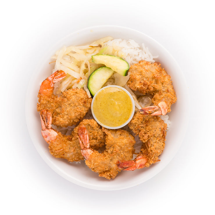 Jumbo Coconut Shrimp Bowl