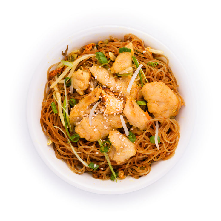 Stir Fried Egg Noodle Bowl