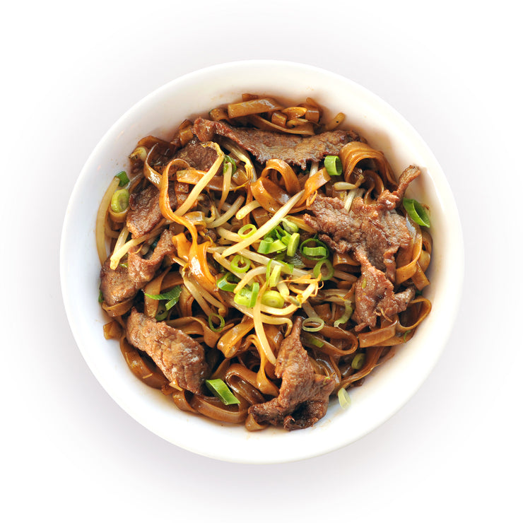 Stir Fried Flat Noodle Bowl