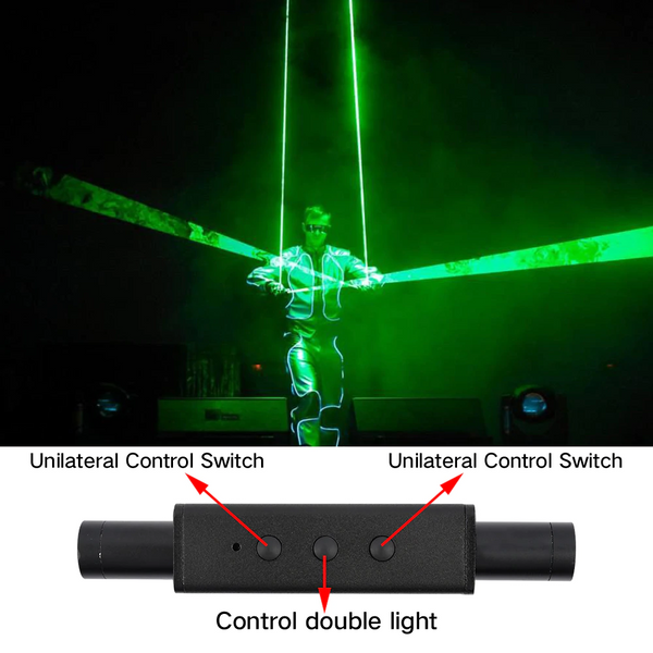 Mini Double-headed laser sword laser dance handheld stage props