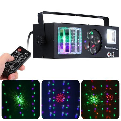 4 in 1 Pattern/ Laser/ Strobe/ Magic Ball Stage Light - RollingStar